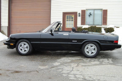 Alfa Romeo Spider Veloce Black 1987 Driver Side View