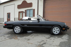 Alfa Romeo Spider Veloce Black 1987 Passenger Side View