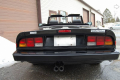 Alfa Romeo Spider Veloce Black 1987 Rear View