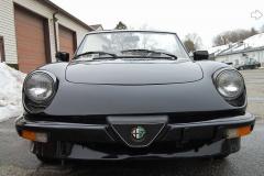 Alfa Romeo Spider Veloce Black 1987 Front View