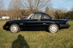 Alfa Romeo Quadrifoglio Spider Black 1988 Driver Side View