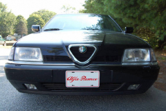 Alfa Romeo 164 LS Black 1995 Front View