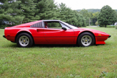 Ferrari 308 GTS Red 1979 Passenger Side View