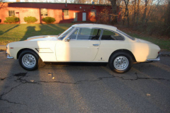 Ferrari 330 GT 2 Plus 2 Two Headlight White 1966 Driver Side View