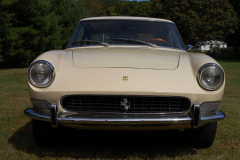 Ferrari 330 GT 2 Plus 2 Two Headlight White 1966 Front View