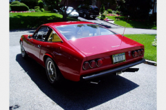 Ferrari 365 GTC 4 Red 60000 Miles 1972 Rear View