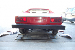 Ferrari 308 GT4 Red 1975 Rear View