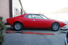 Ferrari 308 GT4 Red 1975 Passenger Side View