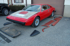Ferrari 308 GT4 Red 1975 Front View