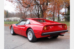 Ferrari 308 GTB Fiberglass 1978 Rear Drivers Side View