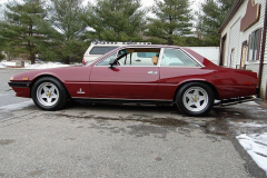 Ferrari 400i 5 speed Burgundy 1980 Driver Side View