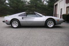 Ferrari 308 GTSi Silver 35000 Miles 1981 Passenger Side View