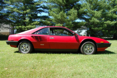 Ferrari Mondial Coupe Red 72000 Miles 1981 Passenger Side View