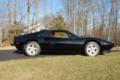 Ferrari 308 GTSi Black 1982 Passenger Side View
