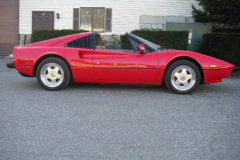 Ferrari 308 GTSi Red 69000 Miles 1982 Passenger Side View
