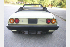 Ferrari Mondial Cab Green 24000 Miles 1983 Rear View