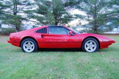 Ferrari 308 GTS QV Red 1984 Passenger Side View