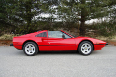 Ferrari 308 GTS Red 1984 Passenger Side View