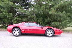 Ferrari 512BBi 8700 Kilometers 1984 Passenger Side View