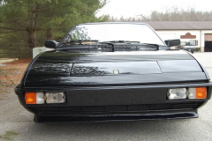 Ferrari Mondial Cab Black 1985 Front View