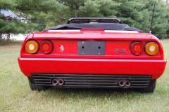 Ferrari Mondial Cab Convertible Red 1986 Rear View