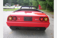 Ferrari Mondial Cab Red 52000 Miles 1986 Rear View