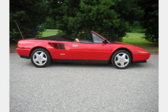 Ferrari Mondial Cab Red 52000 Miles 1986 Passenger Side View