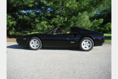 Ferrari 328 GTS Black 1987 Driver Side View