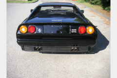 Ferrari 328 GTS Black 1987 Rear View