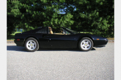Ferrari 328 GTS Black 1987 Passenger Side View