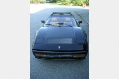 Ferrari 328 GTS Black 1987 Front View