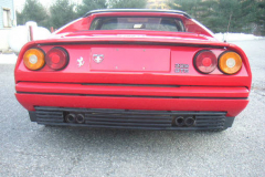 Ferrari 328 GTS Red 1988 Rear View