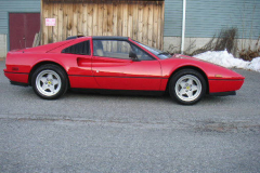 Ferrari 328 GTS Red 1988 Passenger Side View
