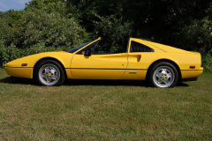 Ferrari 328 GTS Yellow 1989 Driver Side View