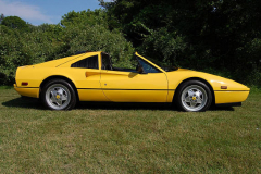 Ferrari 328 GTS Yellow 1989 Passenger Side View