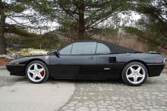 Ferrari Mondial T Cab Black 1990 Driver Side View