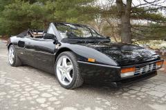 Ferrari Mondial T Cab Black 1990 Passenger Side View
