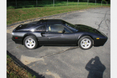 Ferrari 328 GTS Black 1986 Passenger Side View
