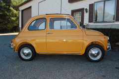 Fiat 500L Yellow 1969 Passenger Side View