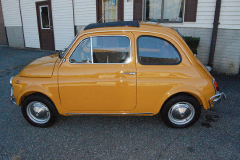 Fiat 500L Yellow 1969 Driver Side View