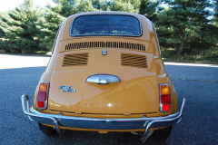 Fiat 500L Yellow 1969 Rear View