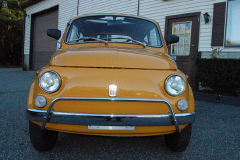 Fiat 500L Yellow 1969 Front View
