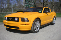 Ford Shelby GT500 Yellow 2008 Front View