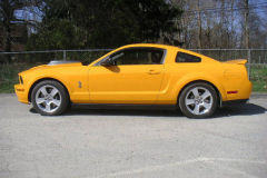 Ford Shelby GT500 Yellow 2008 Driver Side View