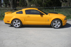 Ford Shelby GT500 Yellow 2008 Passenger Side View
