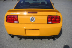 Ford Shelby GT500 Yellow 2008 Rear View