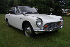 Honda S 600 Roadster White 1965 Passenger Side View