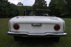 Honda S 600 Roadster White 1965 Rear View