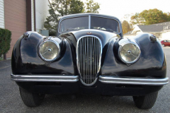 Jaguar XK 120 Coupe Black 1950 Front View