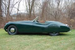 Jaguar XK120 Roadster Green 1950 Driver Side View